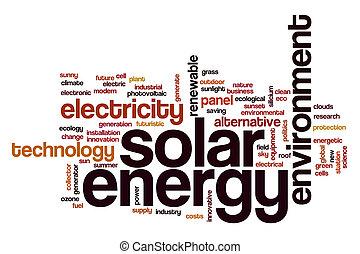 energia, pojęcie, słowo, słoneczny, chmura