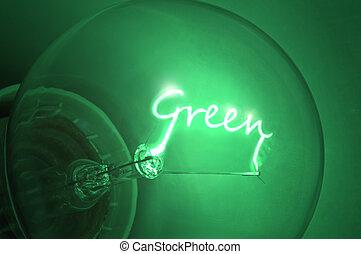 energy., zielony