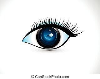 .eps, abstrakcyjny, oko, artystyczny, cyfrowy