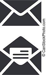 eps, ilustracja, szablon, design., logo, koperta, ikona, wektor, 10.