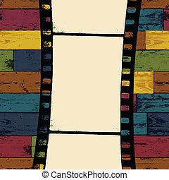 eps10, barwny, drewniany, seamless, tło., wektor, pas, film