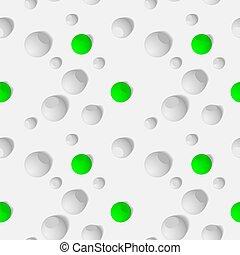 eps10., próbka, seamless, kule, trójwymiarowy, biały, kulisty, mozaika, abstrakcyjny, objects.