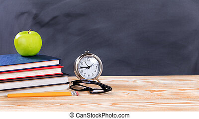 erased, szkoła, wstecz, obiekty, czarnoskóry, chalkboard, przód