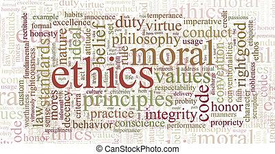 etyka, słowo, zasady, chmura