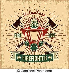 etykieta, firefighting, rocznik wina