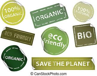 etykiety, eco-przyjacielski
