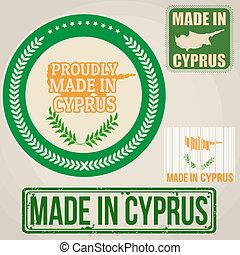 etykiety, pieczęcie, robiony, cypr