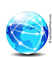 europa, globalny, afryka