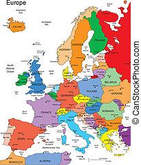 europa, kraje, editable, nazwiska
