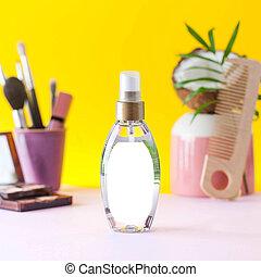 extract., orzech kokosowy, product., kiść, kosmetyczny, kształt, włosiany produkt troski