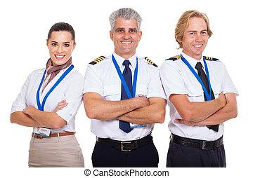 fałdowy, airline, grupa, herb, załoga