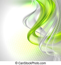 falować, szary, abstrakcyjny, tło