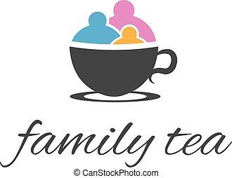 family., abstrakcyjny, wektor, ilustracja