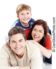 family., szczęśliwy
