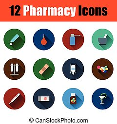 farmacy, komplet, ikony