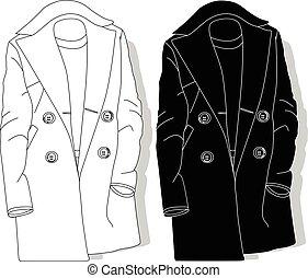 fason, coat., clothes., samica