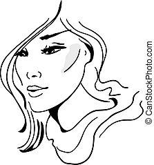 fason, hand-drawn, wzór, szykowny, graficzny, illustration., design., piękny
