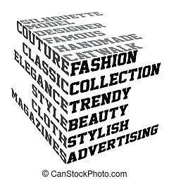 fason, terminy, typografia