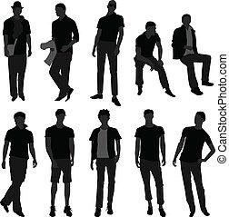 fason, zakupy, mężczyźni, wzór, samiec, człowiek