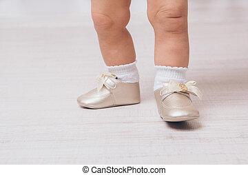 feet, niemowlę, szczelnie-do góry, obuwie, pointe
