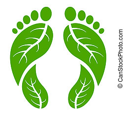 feet, zielony