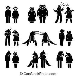 female., samiec, antropomorficzny, litery
