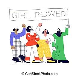 feminizm, moc, dziewczyna, pojęcie