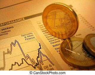 fianacial, monety, wykres