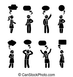 figura, para, komplet, wtykać, dialog
