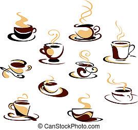 filiżanki kawy, komplet