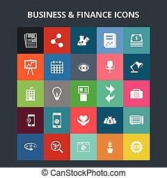 finanse, handlowe ikony
