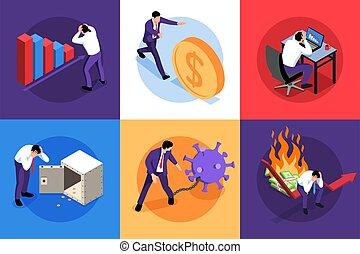 finansowe pojęcie, projektować, kryzys
