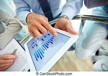 finansowy, dane, cyfrowy