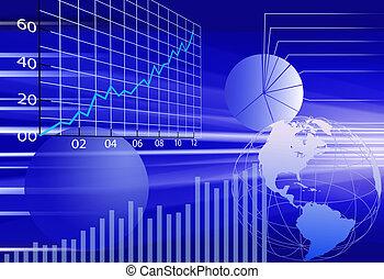 finansowy, handlowy, abstrakcyjny, tło, świat, dane