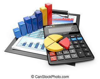 finansowy, handlowy, kalkulator, analytics., reports.