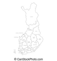 finlandia, -, mapa, okolice