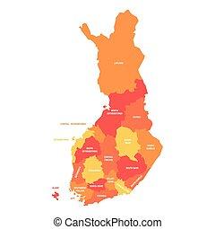 finlandia, -, okolice, mapa