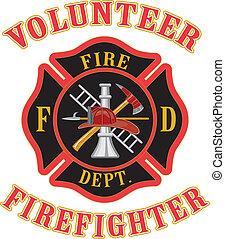 firefighter, ochotnik, maltańczyk