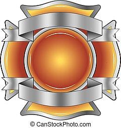 firefighter, wstążki, krzyż