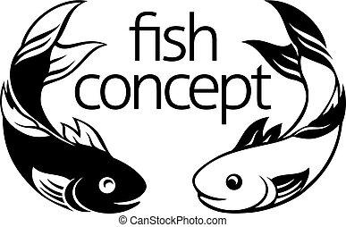 fish, pojęcie, ikona