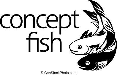 fish, pojęcie, symbol, ikona