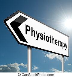 fizjoterapia, concept.
