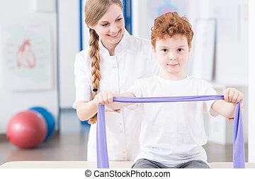 fizjoterapia, klinika, dzieci, rehabilitacja
