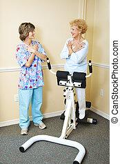 fizyczny therapist, akupunktura, pacjent