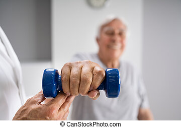 fizyczny therapist, starszy, terapia