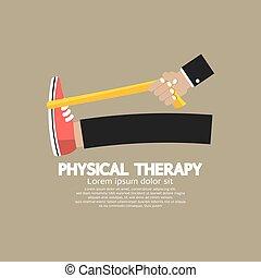 fizyczny, vector., terapia