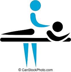 fizykoterapeuta, masażysta, ikona