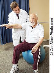 fizykoterapia, doktor, daje