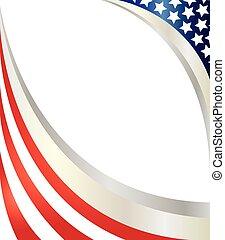 flag., abstrakcyjny, amerykanka