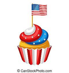 flag., amerykanka, cupcake